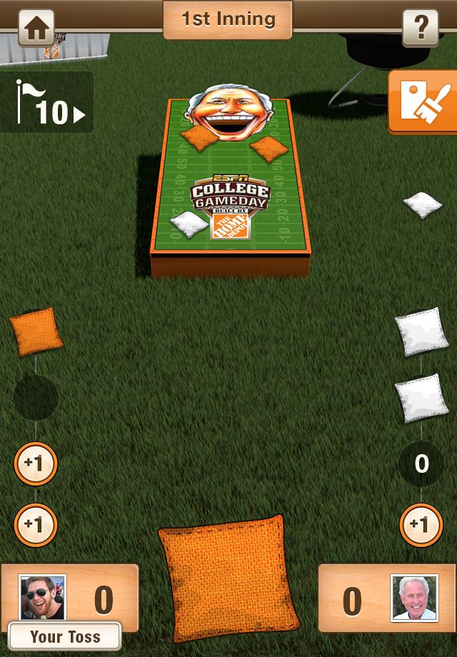 Screenshot Corso's Cornhole Challenge